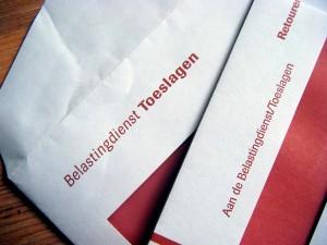 Foto van enveloppen van de toeslagen
